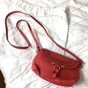 Chloe Marcie Pochette Crossbody Bag Coral